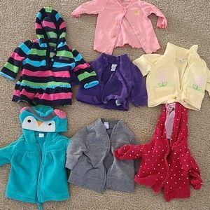 Other - 7 pairs of jackets, sweater and hoodie size 0-3